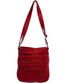 "Soft Vegan Leather Handbag Crossbody""The Willa Crossbody"" by Ampere Creations Cross Body Handbags, Vegan Leather, Leather Handbags, Wallet, Amazon, Red, Stuff To Buy, Black, Feminine"