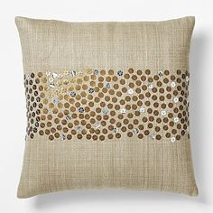 Sarah Campbell Embellished Stripe Pillow Cover #westelm