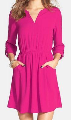 roll sleeve skater skirt dress  http://rstyle.me/n/v7v9npdpe