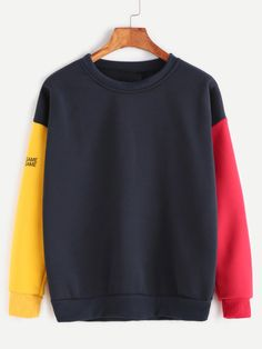 Cheap plus size sweatshirt, Buy Quality letter print directly from China sweatshirt plus size Suppliers: ROMWE Color Block Patchwork Sweatshirt 2017 Pullovers Women Drop Shoulder Autumn Tops Sleeve Letter Print Plus Size Sweatshirt Sweatshirt Outfit, Hoodie Sweatshirts, Printed Sweatshirts, Pullover Hoodie, Shorts E Blusas, Long Sleeve Tops, Long Sleeve Shirts, Plus Size Hoodies, Tokyo Street Fashion