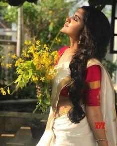 Actress Anupama Parameswaran Traditional Stills In A Saree - Social News XYZ