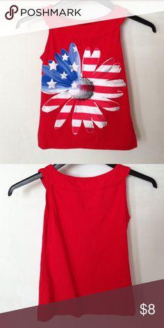 Justice Patriotic Tank size 10 Cute patriotic tank top from justice. Justice Shirts & Tops Tank Tops