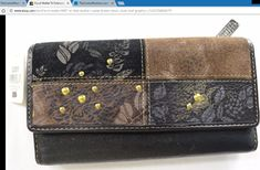 Fossil wallet NWT trifold leather suede brown black studs leaf graphics ~ http://stores.ebay.com/thecurrentfashion/Bags-/_i.html?_fsub=10888362012 , http://stores.ebay.com/thecurrentfashion/?_dmd=2&_nkw=Fossil , http://thecurrentfashion.com | #TheCurrentFashion #Fossil #FossilWallet #FossilBag #FossilBags #FossilStyle #FossilNew #NWT #wallet #trifold #trifoldwallet #bag #handbag #purse #satchel #leather #suede #fashion #style #new #shopping #onlineshopping #eBay #eBayFashion #need #want