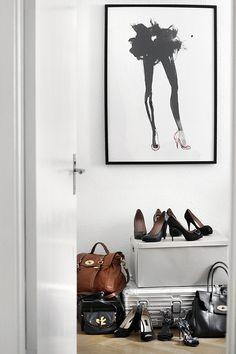 closet corner #wallart