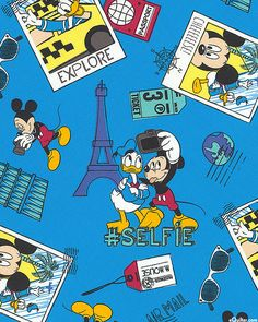 Mickey Mouse - Selfie - Surf Blue
