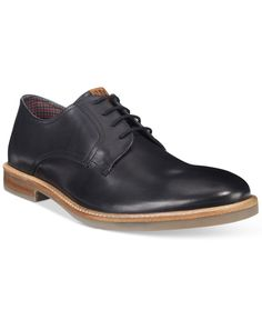 Ben Sherman offers classic style with these plain-toe Birk Oxfords. | Manmade upper; rubber sole | Imported | Plain toe  | Lace-up closure  | Web ID:2967556