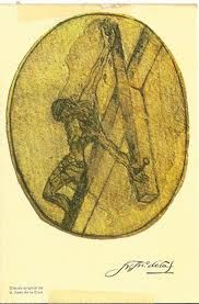 Saint John of the Cross, drawing of the crucifixion. Cross Drawing, Bless The Lord, Catholic Saints, My Favorite Image, Sacred Art, Spiritual Life, Pope Francis, Dali, Printmaking