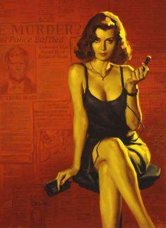 Official Glen Orbik Website - Dangerous Dames & Pulp Noir/Colorado Kid by Stephen King Pin Up Girl Vintage, Vintage Art, Arte Do Pulp Fiction, Dibujos Pin Up, Robert Mcginnis, Pulp Art, Pin Up Art, Retro Art, Hollywood Glamour