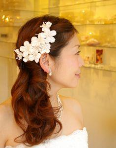ブライダル ヘアアクセサリー ウエディングアクセサリー 髪飾り 花嫁の髪型 ヘアスタイル