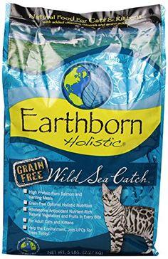 Earthborn Holistic Wild Sea Catch Grain-Free Dry Cat Food...