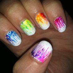 rainbow nails! #nails #nailart #manicure #diy