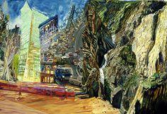 Olive Ayhens Crashing the Canyon, oil on canvas, 59X75, 2003 via artist