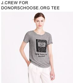 #jcrew donors choose marble notebook t-shirt. helping teachers help students :)