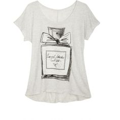 Love And Attraction Perfume Tee ($20) ❤ liked on Polyvore featuring tops, t-shirts, graphic tee, graphic print t shirts, graphic t shirts, graphic design t shirts, graphic design tees and graphic tops