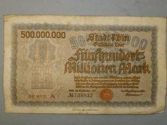 Billete de 500 millones de marcos de 1923