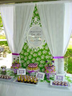 Adult cake and dessert themed birthday party birthday | Plumeria Cake Studio: Tinkerbell Birthday Dessert Buffet