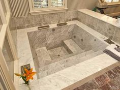 Spa Jetted Tub. Yup. This is where I would probably be sitting while reading one of the books from that library in the other shot. And did I mention I would also need a babysitter to go along with the housekeeper so I could idly sit in this tub? Well, I would! LOL. 3501 Bluestone Court, Chapel Hill NC - Trulia