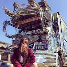 DECOTORA  by sakippo_hatsumi Trucks And Girls, Car Girls, Go Dog Go, Japanese Cars, Japan Fashion, Custom Art, Cars And Motorcycles, Cool Cars, Japan Style