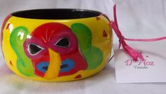 PULSOS EN MADERA RESINADOS Planter Pots, Craft, Tableware, Carnivals, Party, Ash Wednesday, Picture On Wood, Barranquilla, Colombia