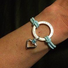 Stoned Heart HALO Bracelet Heavenly Blue by HEAVENSBOOK on Etsy
