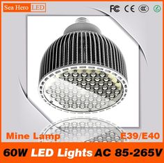 230.00$  Buy here - http://alivff.worldwells.pw/go.php?t=32623179992 - PAR64 60W LED Lights High-end Newest Professional Mine Lamp and lanterns E39 E40 AC 85-265V Cree chips 60 led/PC 230.00$