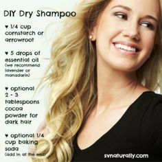 DIY Dry Shampoo Recipe... I wonder how well this works