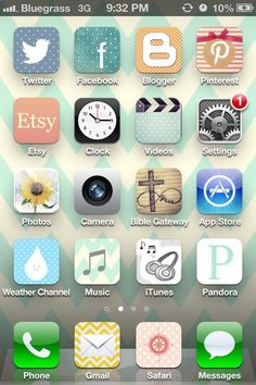 Another pinner says: I love this! Now I cant stop making my icons original! Customize your iPhone icons and make it prettier and completely unique! IT WORKS!!