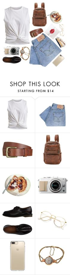 """""""🥑 hi"""" by annasrgvalim ❤ liked on Polyvore featuring VILA, Levi's, Chrome Hearts, Will Leather Goods, Frye, Dr. Martens and Speck"""