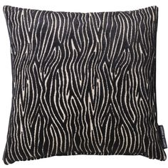 Onda Velvet Animal Ebony Square Cushion
