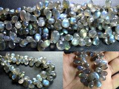 Labradorite pear faceted beads strands (Code-22\79)   http://etsy.me/1uhV0G4  http://etsy.me/1mFe0ZJ  #labradorite #pearfaceted