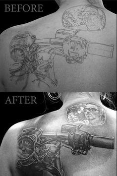 Gunslinger Tattoo - motorcycle bars & mirror
