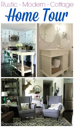 Home decorating ideas on a budget. A mix of rustic, modern, and cottage styles.