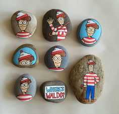 Where's Waldo? - painted rocks