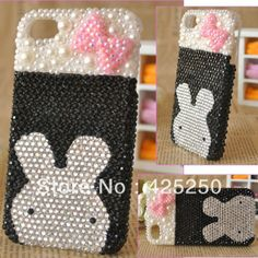 Butterfly rabbit For 5 4 4s phone case DIY full rhinestone material kit Diy  Phone Case 0c2be21cd016