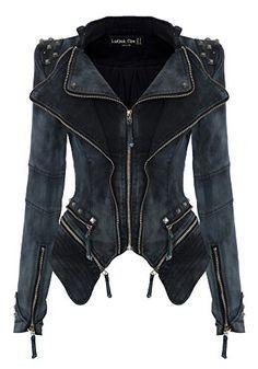 LookbookStore Studded Shoulder Lapel Denim Jeans Tuxedo Blazer Jacket Plus  Size at Amazon Women s Coats Shop 4d2a83b67e