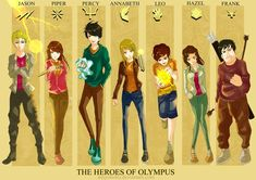 the seven demigods of the prophecy | Fanart] The Heroes of Olympus by tonyohoho