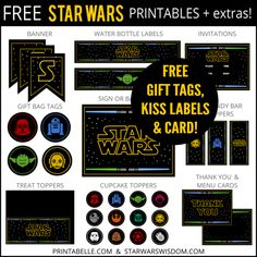 Free Star Wars Party Printables + Extras – Free Party Printables at Printabelle