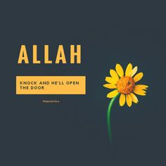 """Allah; Knock and He'll open the door."""