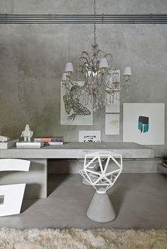 Warm Gray Interior Design in Natural Cements Concept