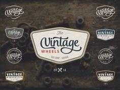 Retro Logo Badge - Car Shop Garage by Hugo Figueira