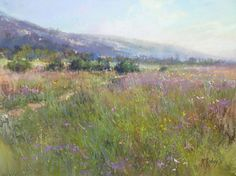 Subtle manipulation of the corner in 'Nature's Tapestry' (pastel, 12×16) heightens the sense of being present within the space of the scene. ~Richard McKinley  #FocalPlane #FineArt