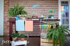 caixotes de madeira para festa infantil - Pesquisa Google