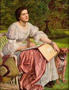 'Gladys M. Holman Hunt' a.k.a. 'The School of Nature' (1893-1894) by William Holman Hunt (1827-1910). Oil on wood.