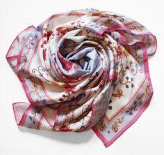 "Oxana Lychagina's silk shawl ""Blue lagoon"""