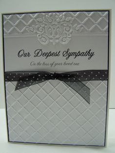 Embossed sympathy card, condolence card, thinking of you, funeral