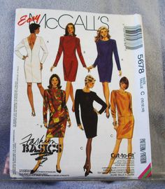 1991 Uncut  Easy McCall's Pattern 5678 by lovelylovepatterns, $4.50