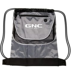 Promotional Products Ideas That Work: Tournament nylon drawstring backpack. Get yours at www.luscangroup.com