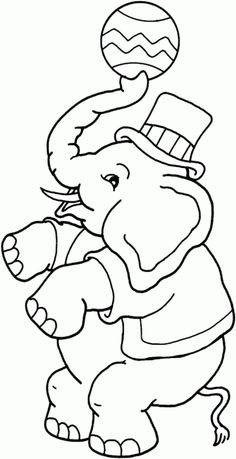 Circus coloring pages: Circus elephant girl