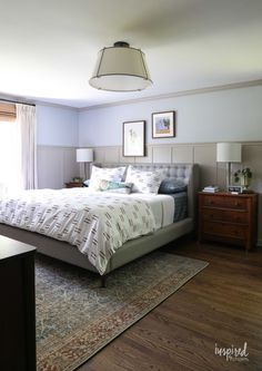 10 by 11 Bedroom Lovely Master Bedroom Makeover Reveal Decorating Ideas Modern Country Bedrooms, Country Bedroom Design, Small Bedroom Interior, Small Master Bedroom, Master Bedroom Makeover, Master Bedroom Design, Home Decor Bedroom, Modern Bedroom, Bedroom Ideas