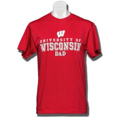 NCAA Mens Champ Short Sleeve Local T-Shirt Wisconsin Badgers Large